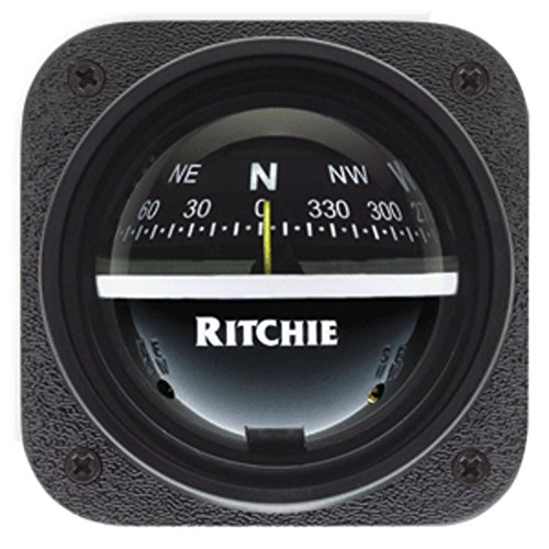 Explorer Bulkhead (Ritchie V-537 Explorer Compass - Bulkhead Mount - Black Dial Marine , Boating Equipment)