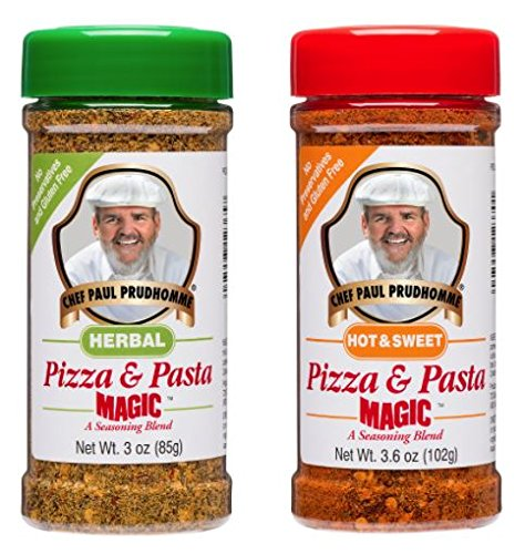 Chef Paul Prudhommes Hot & Sweet Pizza & Pasta Magic, Herbal Pizza & Pasta Magic - Chef Paul Seasoning