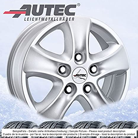 4 Invierno ruedas autec Talos 6.5jx16 ET56 5 X 160 Plata con 215/65