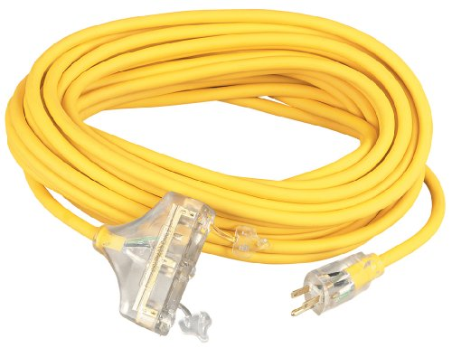 Coleman Cable 03589 10/3-Wire Gauge Tri-Source SJEOW Outdoor Vinyl Extension Cord, 100-Foot by Coleman Cable