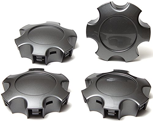OxGord Center Caps for 03-07 Toyota Sequoia, 03-06 Tundra (Pack of 4) Wheel Covers Charcoal Replacement