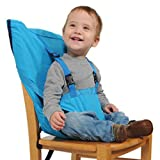 Aurelius Portable HighChair for Travel Baby and Toddler Harness Safety Seat,Perfect for Restaurants/Travelling (Light Blue)