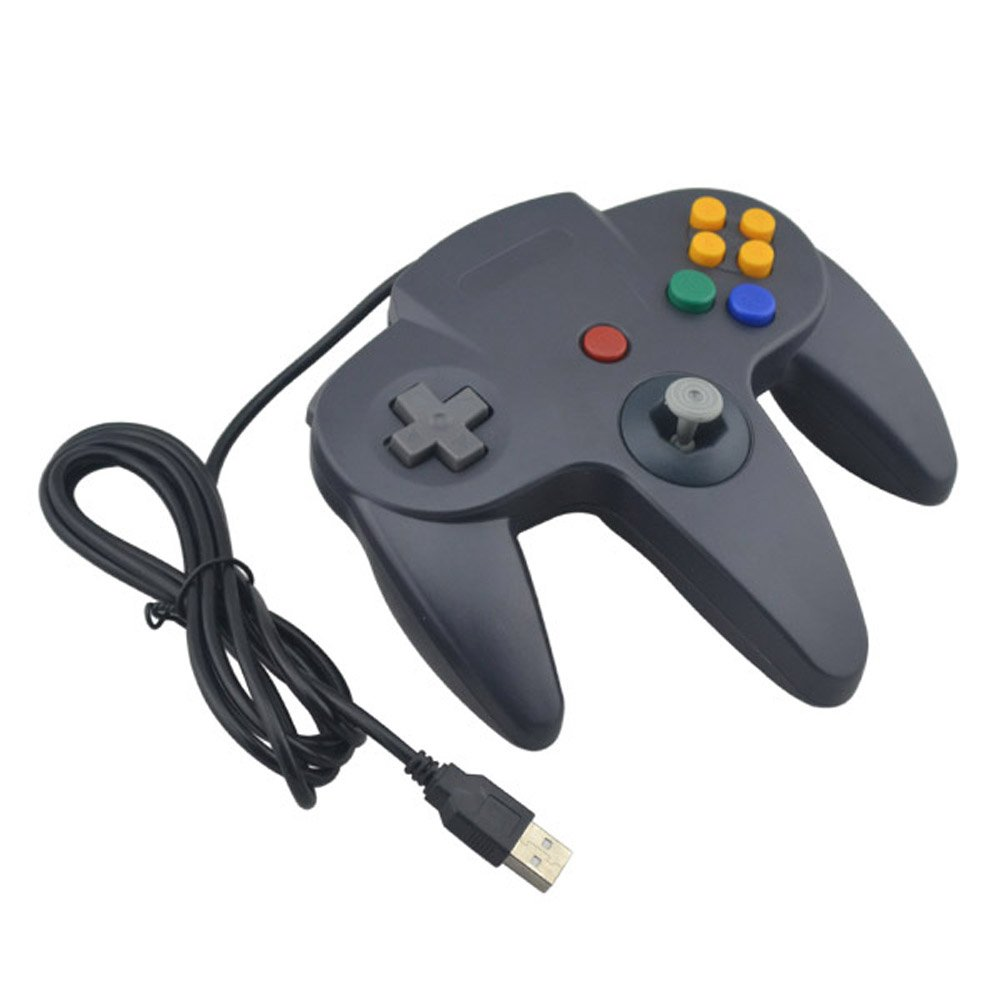 Amazon.com: Generic Wired USB Joystick Look Like for N64 Controller ...