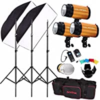 Godox 300SDI 900W(300Wx3) Studio Flash Lighting w/ Trigger Kit Photography Strobe Light
