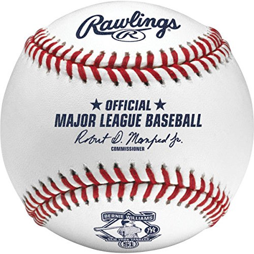 Rawlings ROMLBb51 2015 Bernie Williams Retirement Baseball Official MLB ROMLB
