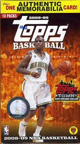 2009 Topps Basketball Factory Sealed Retaill Box with GAME USED MEMORABILIA Card