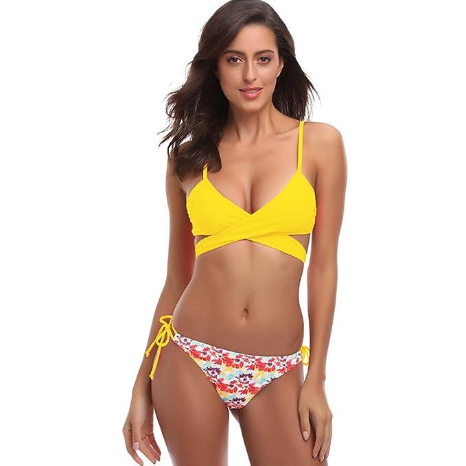 52728e46003e9 Aiserkly Damen Bademode Push Up Bikini Set Zweiteilige Badeanzug ...