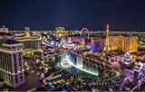 LAS VEGAS SKYLINE GLOSSY POSTER PICTURE BANNER PHOTO strip nevada casino hotels