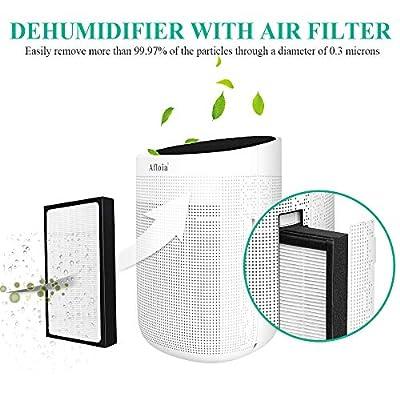 .com - Afloia Dehumidifier for Home, Electric Dehumidifier Capacity Deshumidificador, Quiet Room Dehumidifier Portable Dehumidifier for Bathroom Dorm Room Baby Room RV Crawl Space (White) -