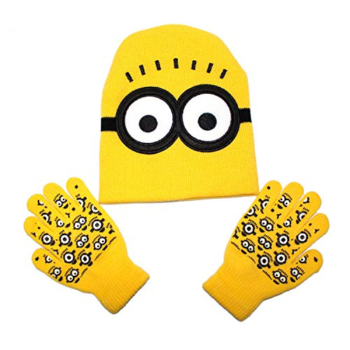 Despicable Me Minions Children's Beanie and Matching Mittens/Gloves