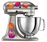 kitchenaid mixer flower - Kitchen Aid Mixer Colorful Cupcake Decal Set - Artistic Full Color Post Impressionist Painted Style Colorful Baking Cupcakes