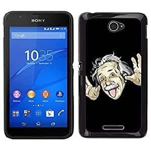 "For Sony Xperia E4 , S-type Divertido Einsten Face Tongue"" - Arte & diseño plástico duro Fundas Cover Cubre Hard Case Cover"
