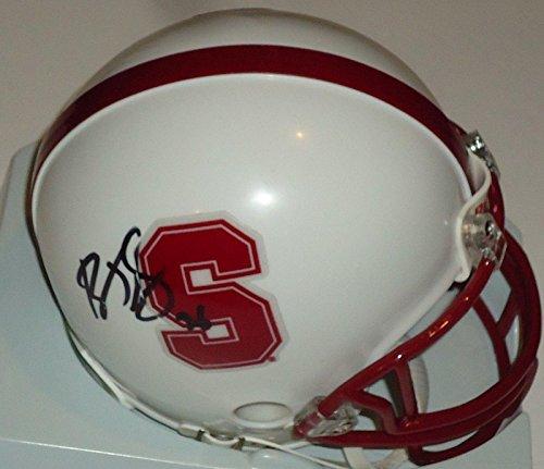 Barry J Sanders signed Stanford mini football helmet w/coa Oklahoma State - Autographed College Helmets