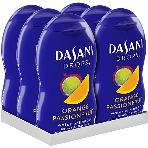 DASANI Drops Orange Passionfruit Water Flavor Enhancer Drink Mix, 1.9 Fl. Oz, 6 Pack