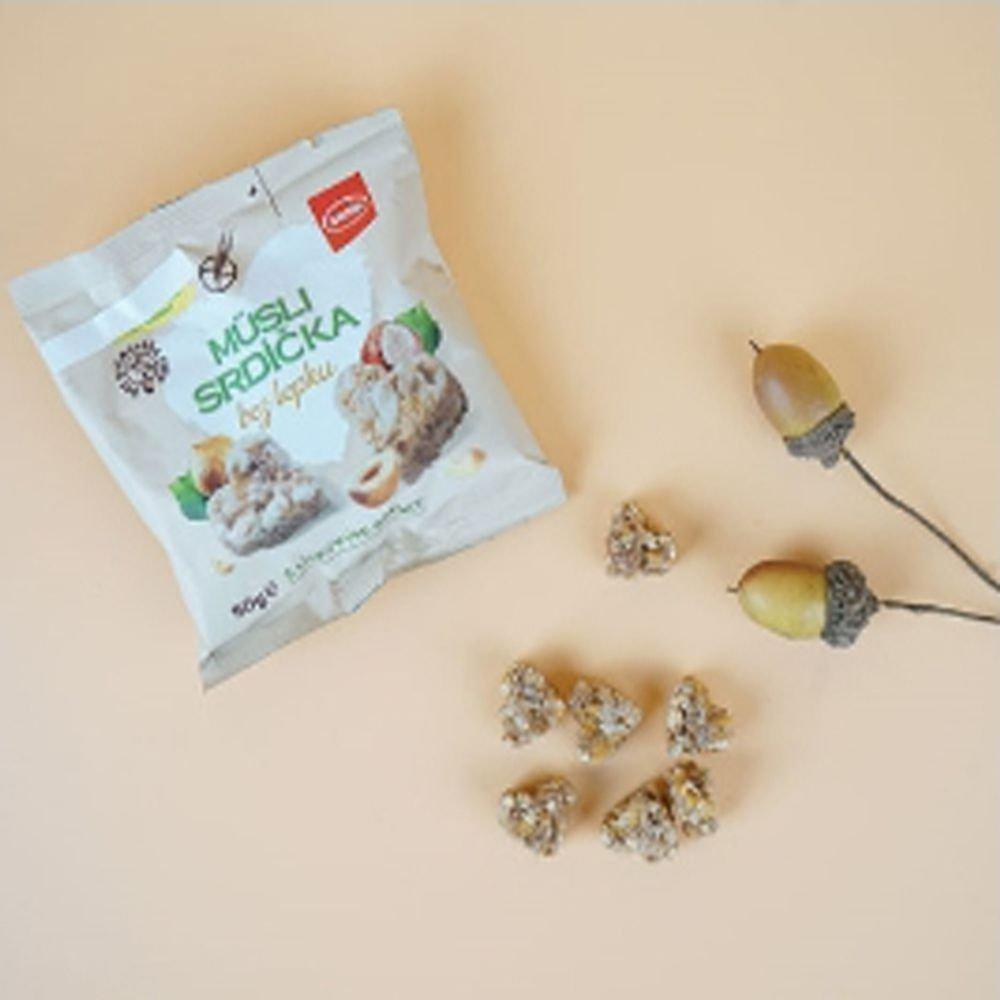 Little hearts muesli hazelnut (gluten-free) 50gx10 oats hazelnut health snack Czech