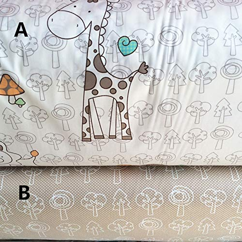Infant Baby Bedding 160cmx50cm Animal Nursery Cotton Patchwork Quilting Pillowcase Sewing Tissue