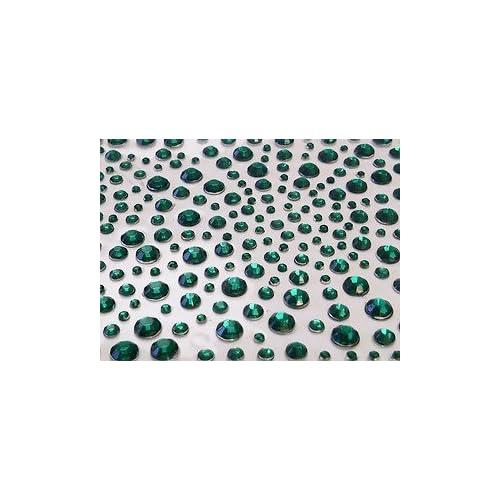 Crystals & Gems UK 325 Gemmes En Strass Diamant Vert Auto-adhésif À Coller Vajazzle, Mariage 1 - 325Pcs