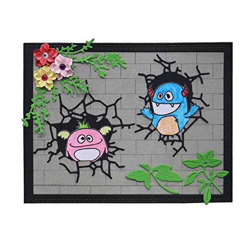 Weite Cutting Dies, Flower Grove Monster Metal Scrapbooking Stencils Nesting Die Embossing Photo Album Decorative DIY Paper Cards Making Craft -