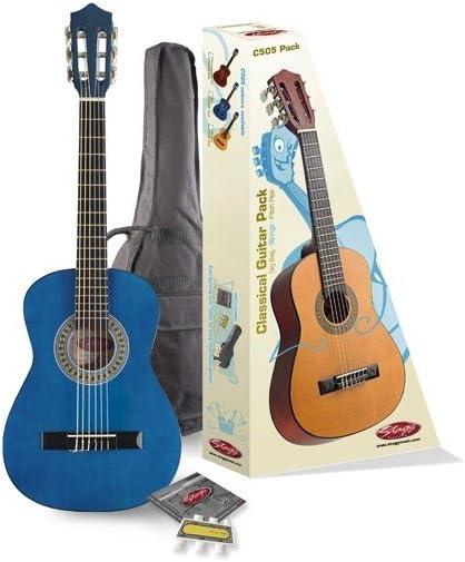 Stagg C505BL Pack - Guitarra clásica de tamaño 1/4: Amazon.es: Instrumentos musicales