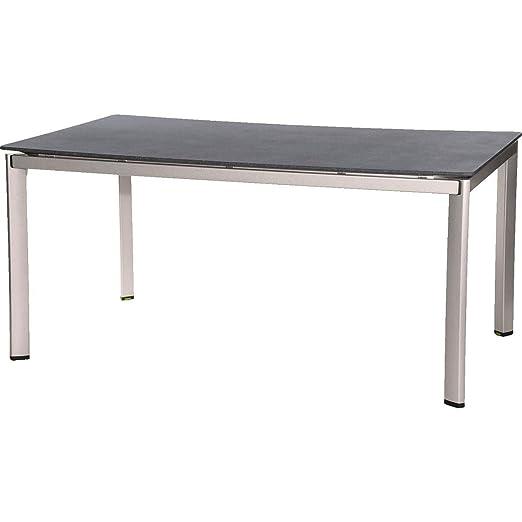 MWH Aluminio tapo Mesa, Aluminio, Plata/Gris, 160 x 95 x 74 cm ...