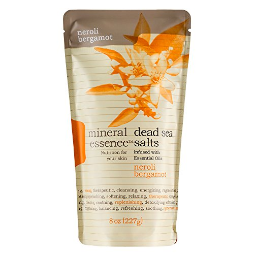 Mineral Essence Neroli Bergamot Scented Dead Sea Salt   8 Oz Pouch