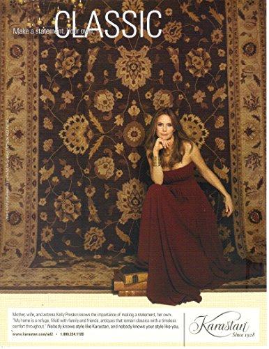 Magazine Print Ad: 2008 Actress Kelly Preston for Karastan Rugs,