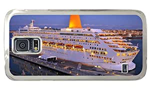 Hipster Samsung Galaxy S5 Case cool cover cruise ship oriana PC Transparent for Samsung S5