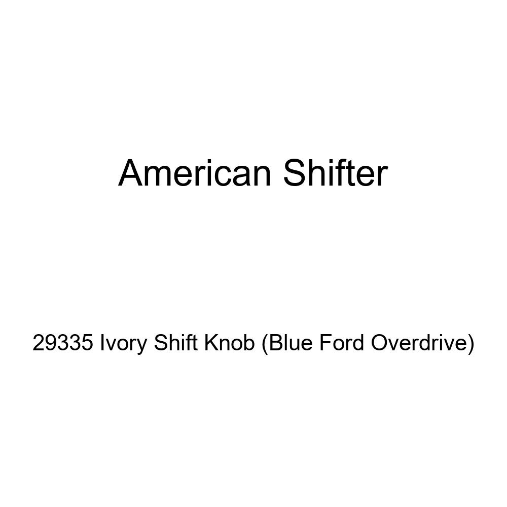 American Shifter 29335 Ivory Shift Knob Blue Ford Overdrive