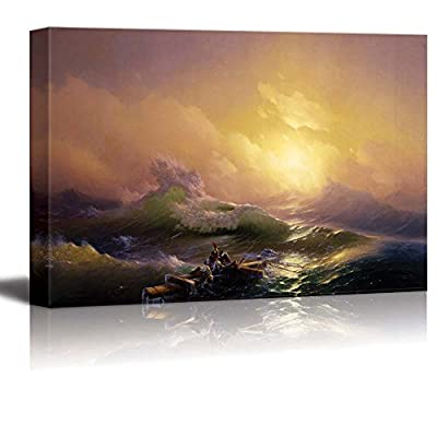 The Ninth Wave by Hovhannes Aivazovsky Giclee Canvas Prints Wrapped Gallery Wall Art | Stretched and Framed Ready to Hang - 24