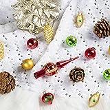 KINGYEE Miniature Ornaments and Tree Topper