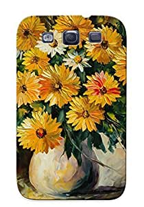 For Case Samsung Galaxy S5 Cover Painting Flowers Vase Bouquet Print High Quality PC Gel Frame For New Year's Day