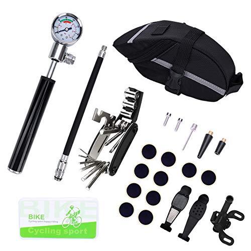 papasgix Bike Tool Kit,19 pcs Bike Multifunction Tool, Bicycle Fix Tool Kit, Bike Puncture Repair Kit,Bike Cycling…
