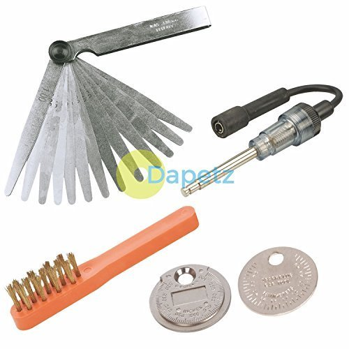 Dapetz ® Ignition Spark Plug Tester, Gap Gauge, Feeler Gauge & Cleaning Brush