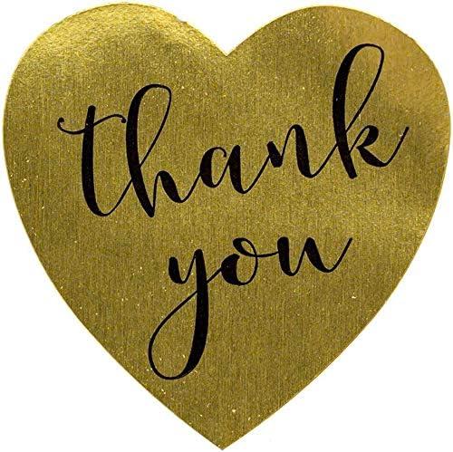 Gold Thank You 500 St/ück Danke Aufkleber Herz Aufkleber Label Papier Abdichtung Aufkleber Etiketten Selbstklebend Geschenksticker Oro Selbstgemacht Aufkleber