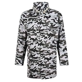 HaoDuoYi Womens Casual Camo Lightweight Zipper Outwear Jacket(S,Camo 2)