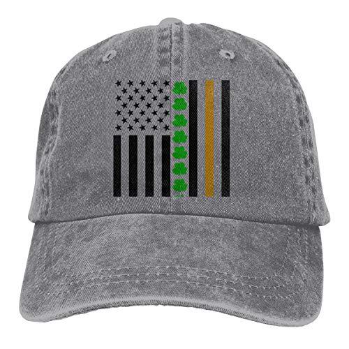De Lis Barbell Fleur (Lucky Grass American Flag Denim Hat Adjustable Plain Cap Baseball Caps)