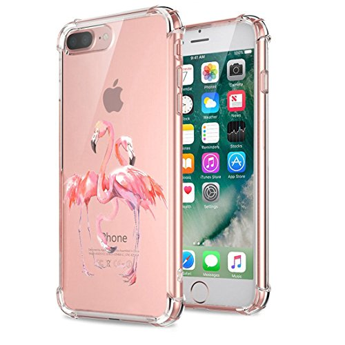Price comparison product image Beryerbi iPhone 8 Plus Case Clear Soft TPU Anti-Drop Technology Protective Cover (iPhone 8 Plus, 1)
