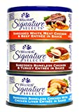 Wellness Natural Grain Free Signature Selects Shredded Wet Cat Food Variety Pack Box - 3 Flavors (Chicken, Beef, & Turkey) - 2.8 Ounces Each (12 Total Cans) Larger Image