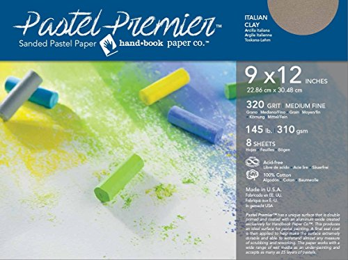 Speedball Art Products 513028 Premier Sanded Pastel Paper, 9 x 12, Italian Clay