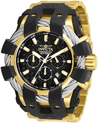 Invicta Men s Bolt Quartz Watch with Stainless Steel Strap, Gold, 28.7 Model 26673