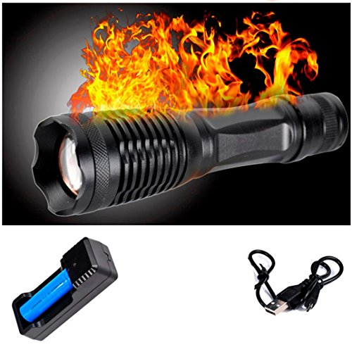 Price comparison product image LED Tactical Flashlight -Best T6 LED Powerful Waterproof Flashlight - Perfect for Camping Biking Home Emergency or Gift-Giving
