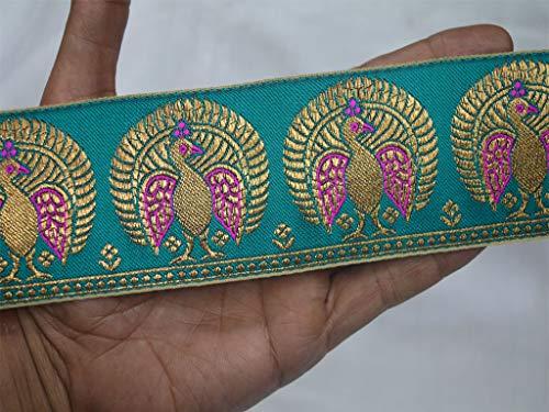 Wholesale Jacquard Trim by 9 Yard Brocade Jacquard Sari Border Gold Metallic Trim Decorative Trim