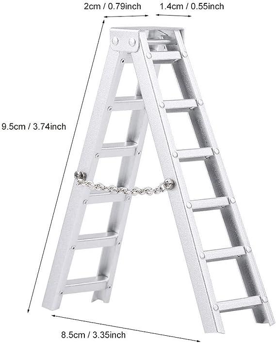 Dilwe Escalera de Simulaci¨®n RC, Accesorio de Coche de Control Remoto Mini Escalera de Simulaci¨®n de Aluminio para RC Crawler: Amazon.es: Juguetes y juegos