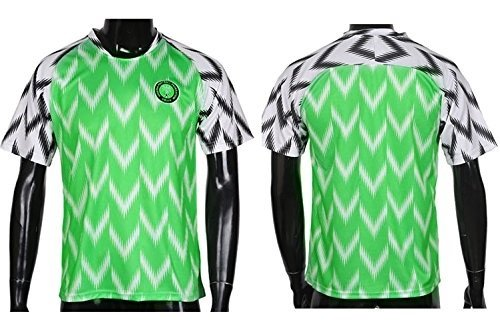 2018 New Season Nigeria Home Soccer Jersey National Jersey White  Green  Wild Tribe 22dd27a7c