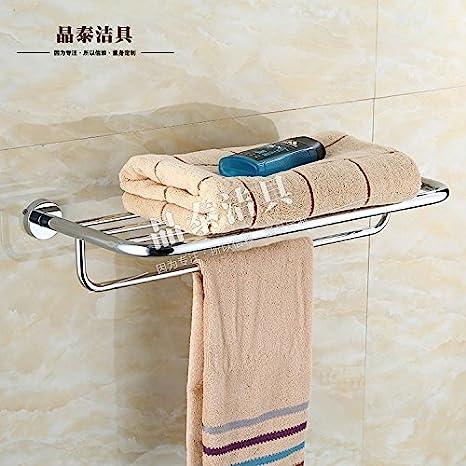 SDKKY Rack de toallas de baño de una sola capa de acero inoxidable Baño 5 Baño Toallas Kim colgar toallas de baño de cromo colgando 60cm ,: Amazon.es: Hogar
