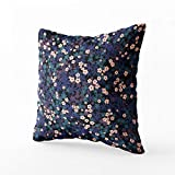 GROOTEY Throw Pillow Covers, Square Pillowcase with Zip Couch Sofa Décor Cute Naive