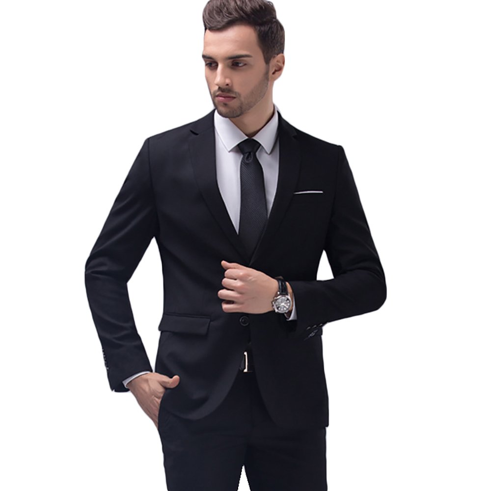 YIMANIE Men's Blazer Slim Fit Casual Premium Classic Suit Coat Single Breasted Button Business Lapel Suit Jacket