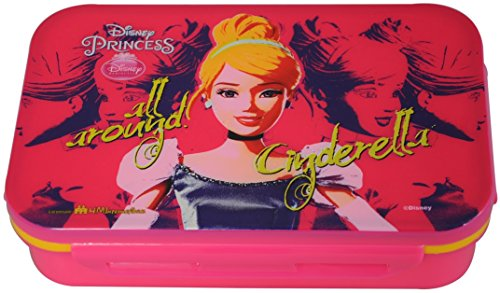 Disney Cinderella Plastic Lunch Box Set, 800ml, Set of 4, Multicolor
