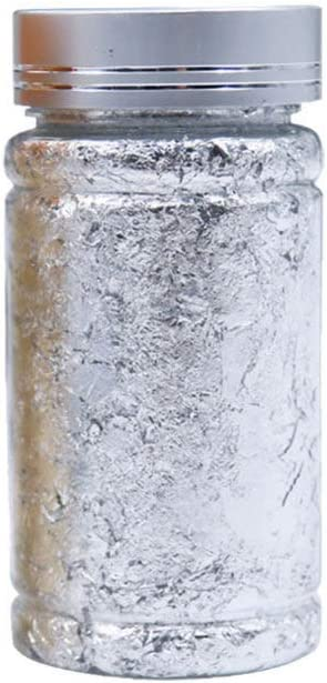 Healifty Lot de 3 flocons de feuille dor m/étallis/ée pour dorure ongles et bricolage Size 1 Dor/é argent/é peinture travaux manuels