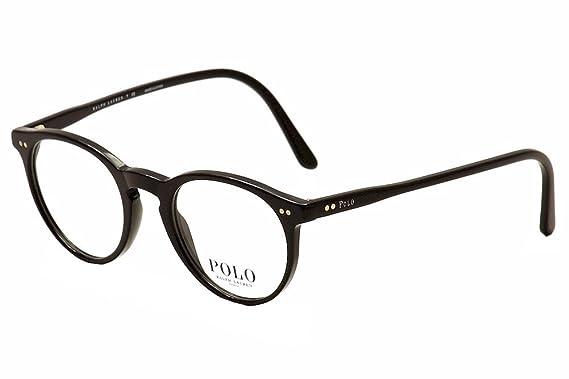 7279e2c76d5 Polo Men s PH2083 Eyeglasses Shiny Black 48mm at Amazon Men s ...
